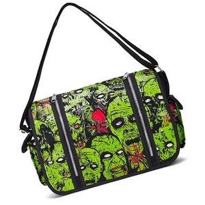 Gothic Zombie Monster Punk Crossbody Messenger Bag